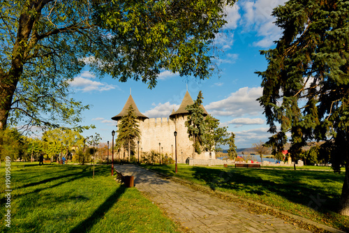 Photo sur Aluminium Fortification View of medieval fort in Soroca, Republic of Moldova.