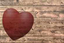 Rustic Wood Background With A Translucent Heart