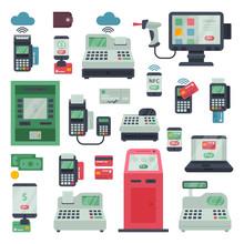 Payment Machine Vector Pos Ban...