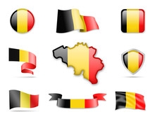 Belgium Flags Collection. Flag...