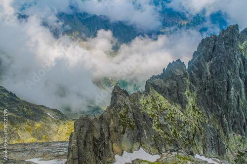 Poster Kaki Polish Tatra mountains landscape