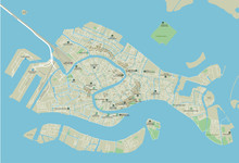 Vector City Map Of Venice With...