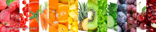Collection of fruits and vegetables © seralex
