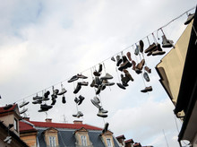 Lota Of Hanging Shoes From A L...
