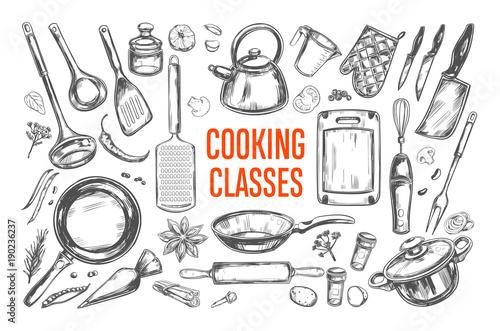 Fotografia  Cooking classes and Kitchen utensil set