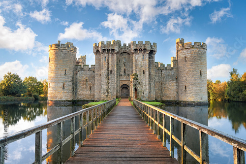 Photo Stands Historical buildings Bodiam Castle in England