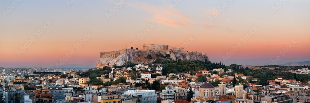 Fototapety, obrazy: Athens skyline rooftop panorama sunset