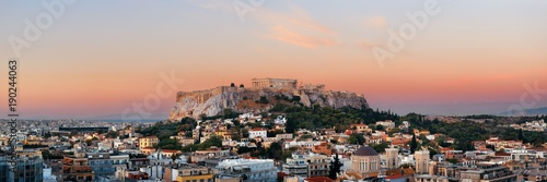 Montage in der Fensternische Athen Athens skyline rooftop panorama sunset