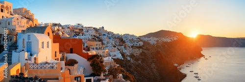 Fototapeta Santorini skyline sunrise obraz