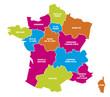 Carte régions de France 5 2018