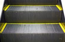 Escalator Steps Closeup