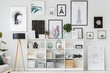canvas print picture - Posters in white flat interior