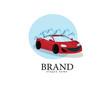 Red Car wash logo