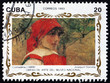 Postage stamp Cuba 1993 Contadina, painting by Joaquin Sorolla