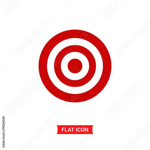 Target Vector Icon Goal Symbol Buy This Stock Vector And Explore
