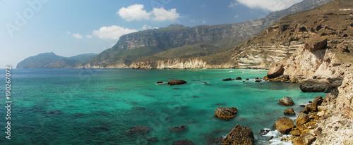 Poster Cote Panorama côtier près de Salalah, Oman
