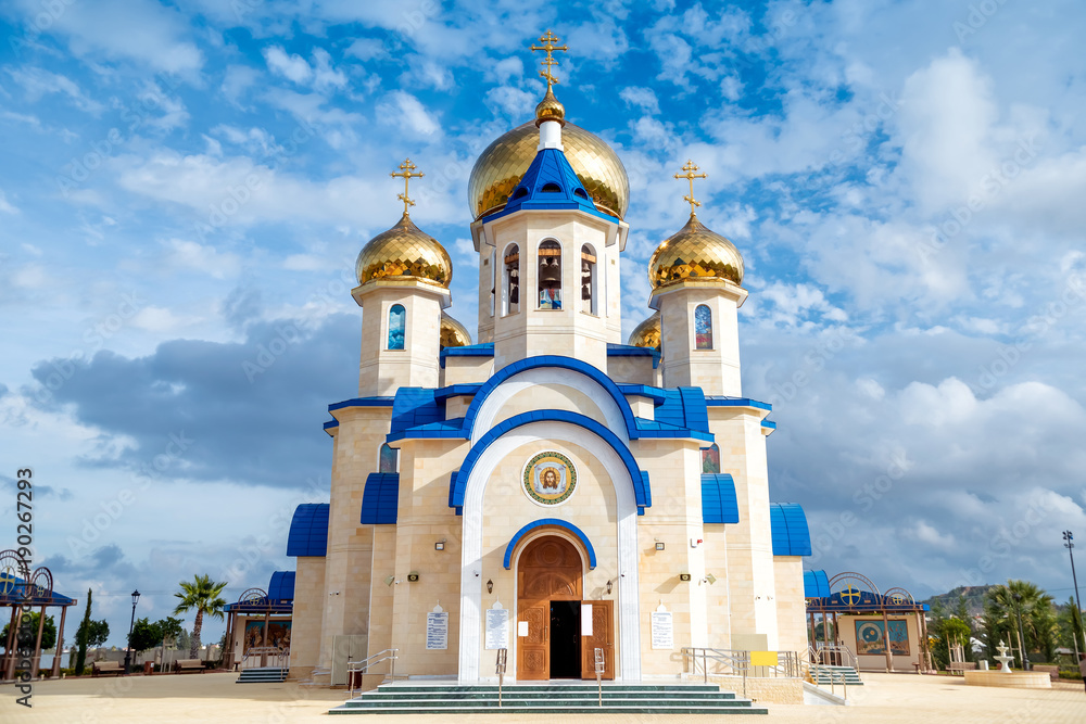 Fototapety, obrazy: The Russian Church of St. Andrew and All Russian Saints. Episkopeio village, Nicosia District, Cyprus