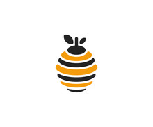 Hive Logo Template. Beehive Ve...