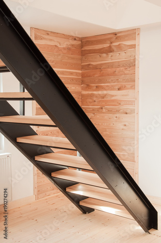 Spoed Foto op Canvas Trappen Modern metal stair design