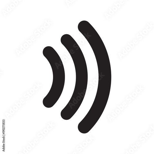 Contactless signal icon vector illustration. Free royalty images. Wall mural