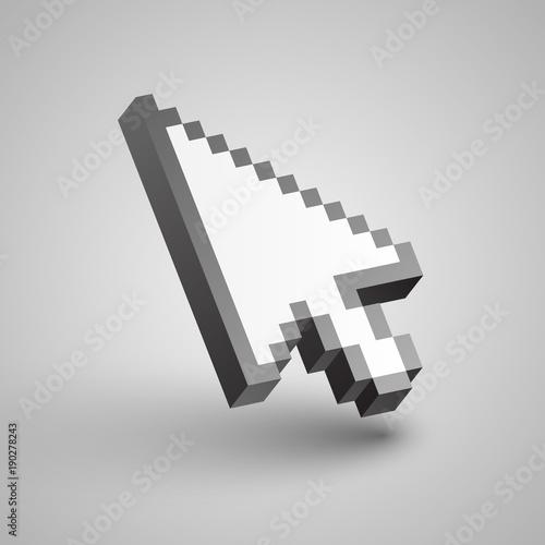 Fotografía  Vector arrow cursor