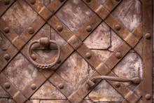Fragment Of The Old Iron Door