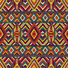 Embroidered Seamless Geometric...