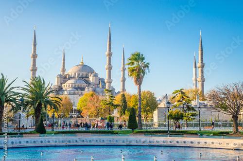 Fototapeta The Blue Mosque, (Sultanahmet Camii), Istanbul, Turkey.