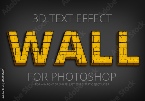 yellow brick wall text effect 1 buy this stock template and explore