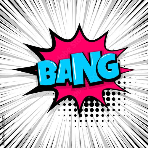 Photo  bang, boom, gun Comic text speech bubble balloon