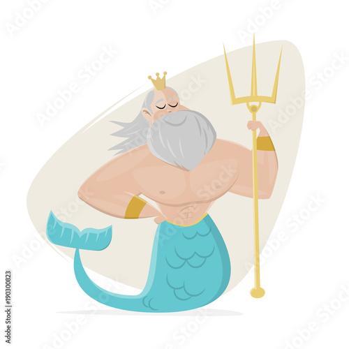 poseidon clipart neptune cartoon Canvas-taulu