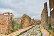 Ruins of Pompeii, ancient city in Italy, destroyed by Mount Vesuvius