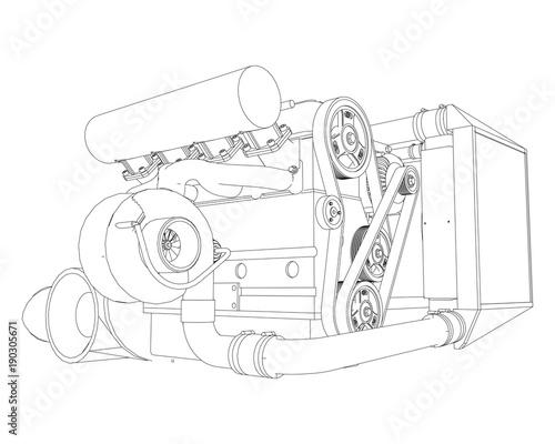 Sports Car Engine