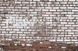 Old red painted brick wall background texture