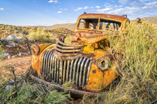 Old Rusty Towing Truck At Colo...