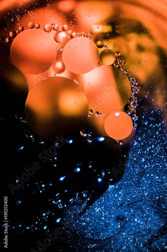 Abstract Macro Photo Of Oil In Water Using A High Powered