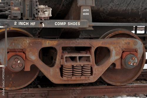 Aluminium Prints Nasa Rusted Train Parts