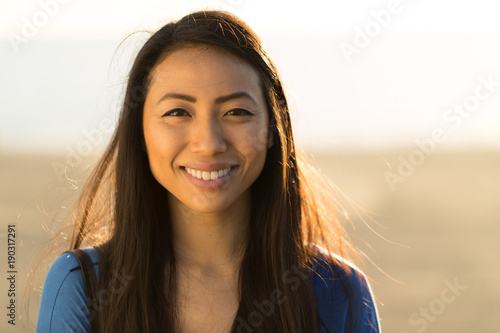Fotografie, Obraz  Young Asian woman smile face