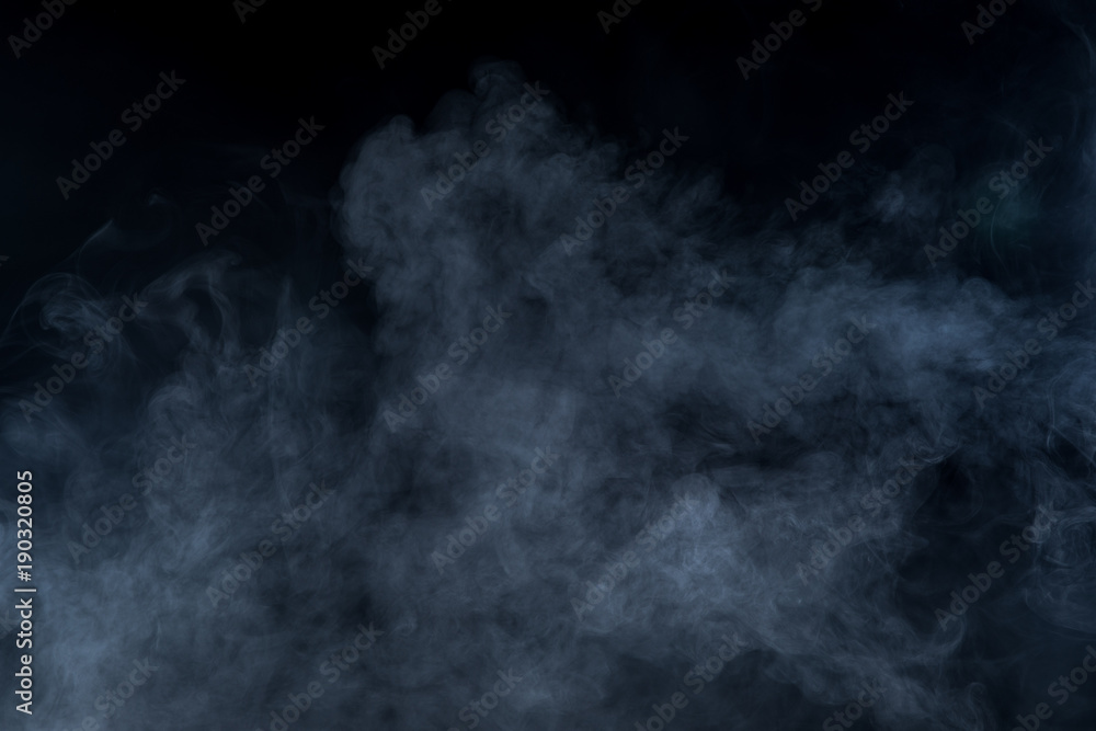 Fototapety, obrazy: Smoke on black background
