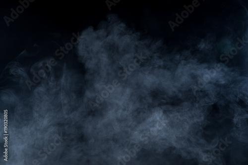 Poster Fumee Smoke on black background