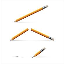 Pencil, Broken Pencil And Penc...