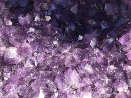 Purple Amethyst Geode Gemstone Background