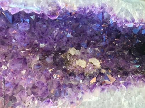 Purple Amethyst Geode Gemstone Background
