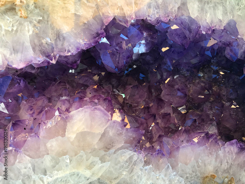 Purple Amethyst Geode Gemstone Background Wallpaper Mural