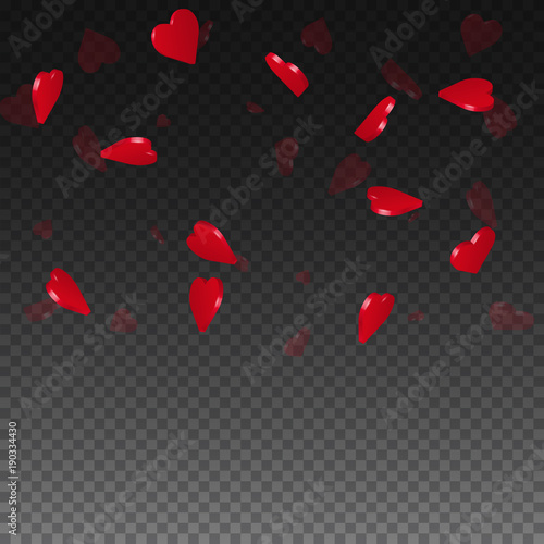 3d hearts valentine background  Top gradient square on