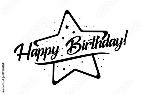 Obraz na plátne  Happy Birthday card