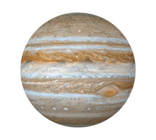 Planet Jupiter Isolated (Elements Of This Image Furnished By NASA)