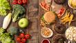 Leinwanddruck Bild - unhealthy or healthy food