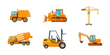 Contruction Machine Icon Set, ...