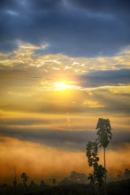 Sea Of Mist And Sunrise At Yun...